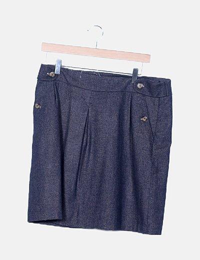 Falda mini azul marina jaspeada