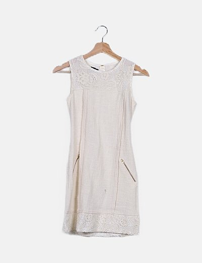 Vestido blanco tweed