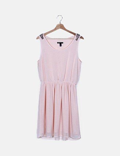 Vestido rosa fluido