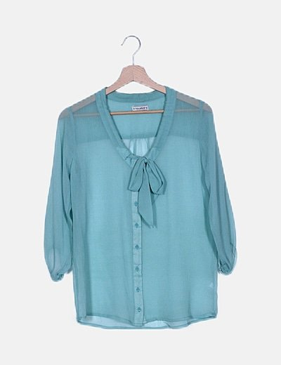 Camisa gasa semitransparente verde