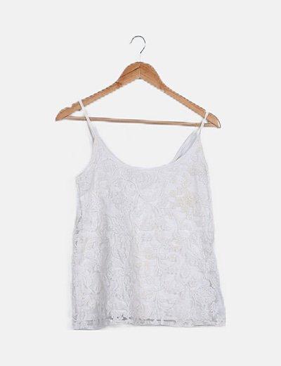 Blusa blanca texturizada blanca