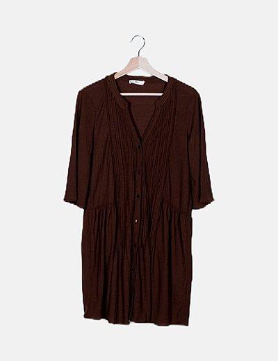 Vestido marrón fluido