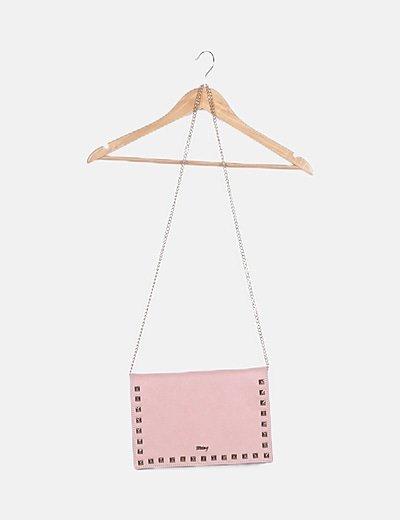Bolso rosa detalle tachas