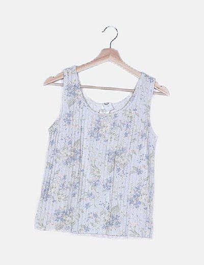 Camiseta punto blanco estampada