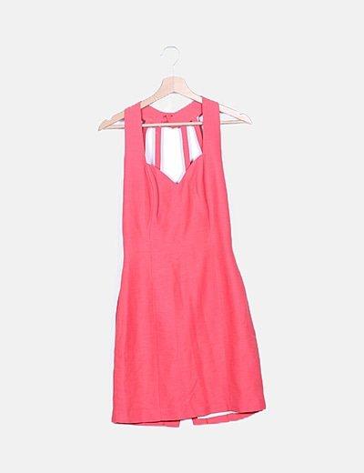 Vestido rosa de tirantes