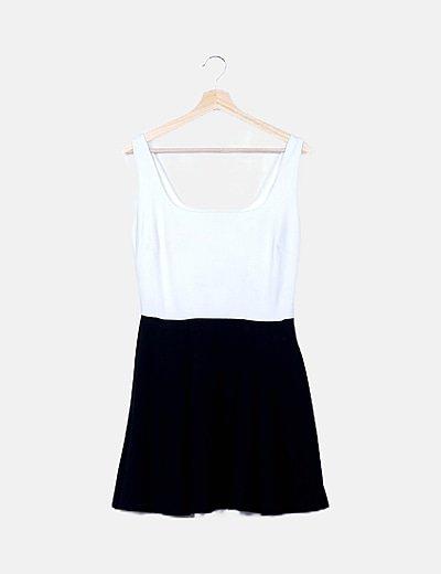 Vestido bicolor tirantes