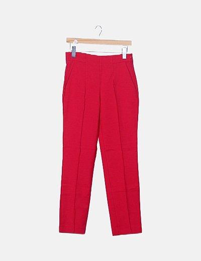 Pantalón fucsia estilo chino