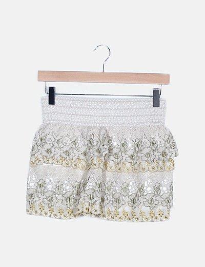 Short crema crochet