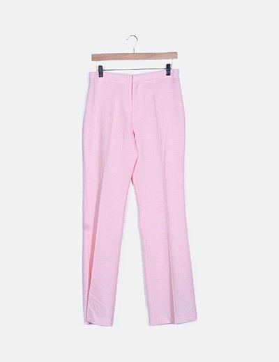 Pantalón rosa de vestir