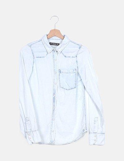 Camisa denim azul clara