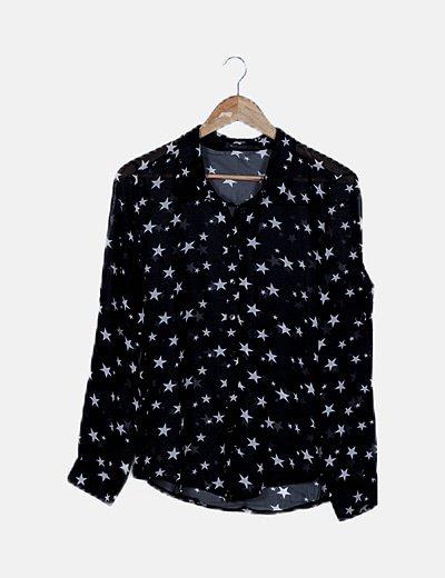 Camisa negra print estrellas