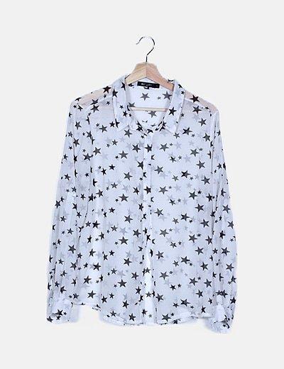 Camisa blanca print estrellas