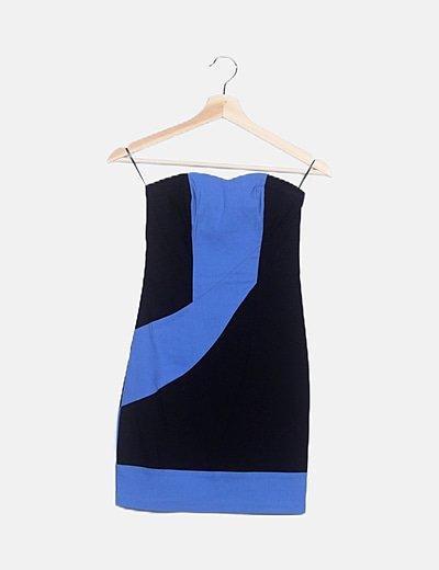 Vestido bicolor combinado