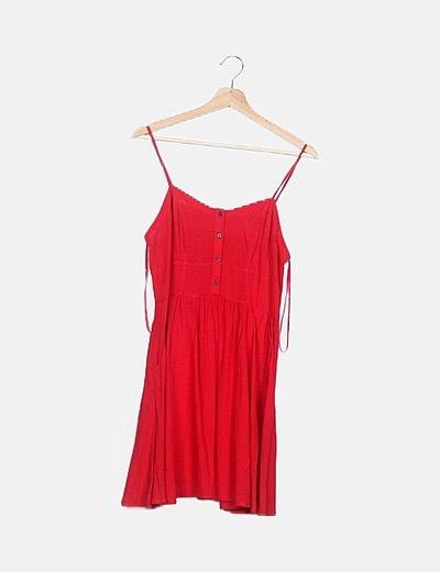 Vestido rojo fluido