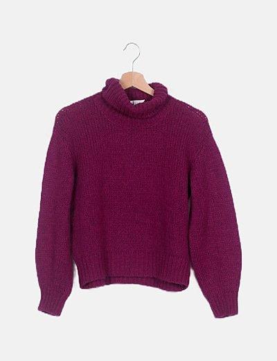 Jersey de punto violeta