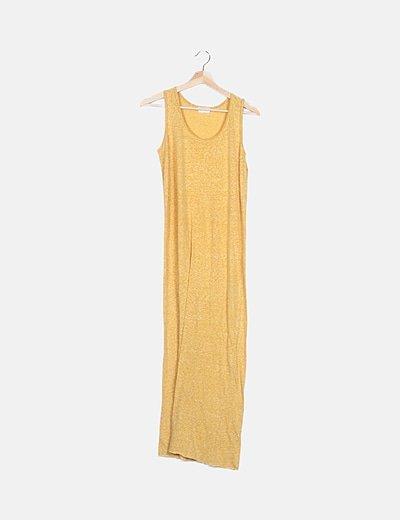 Vestido amarillo jaspeado