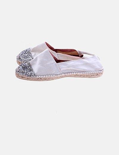 Alpargata blanca glitter