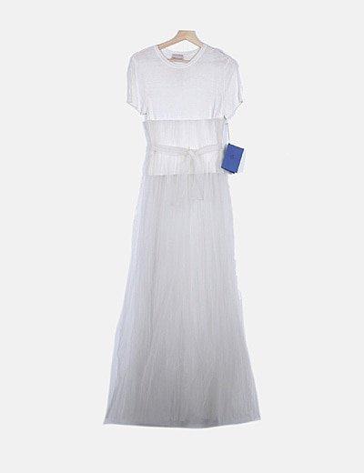 Vestido combinado blanco