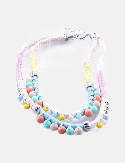 Collar abalorios multicolor