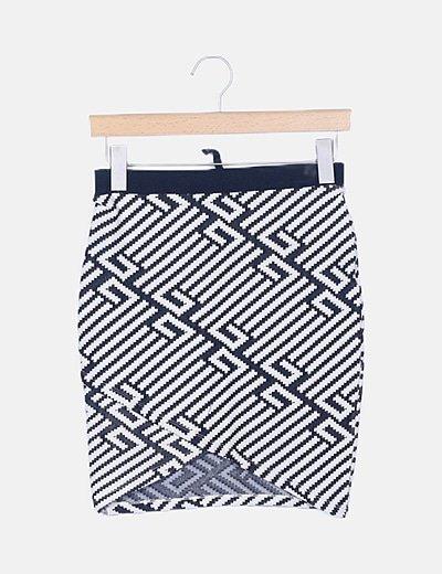 Falda de tubo bicolor