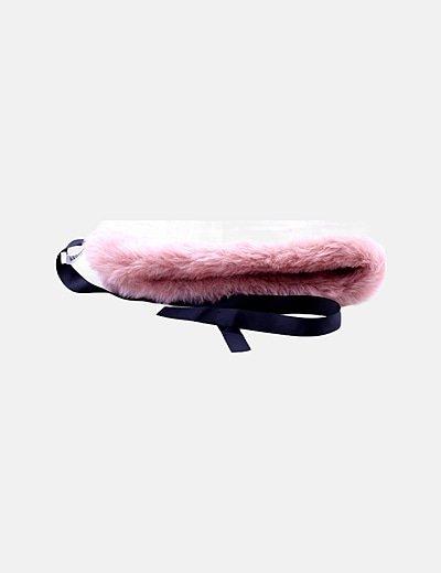 Cinturón rosa de pelo