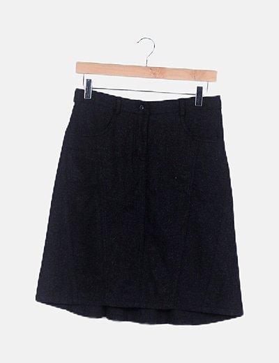Falda negra de paño