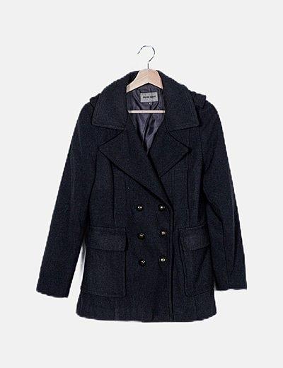 Abrigo gris melange paño