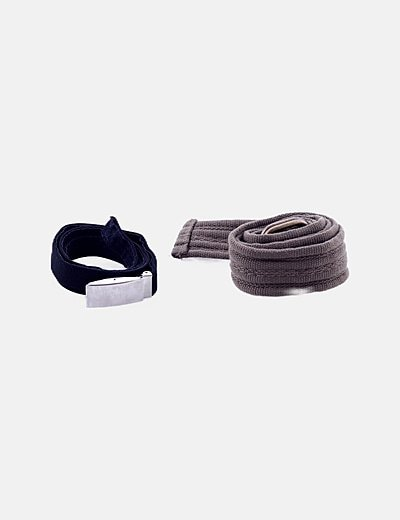 Cinturón gris combinado