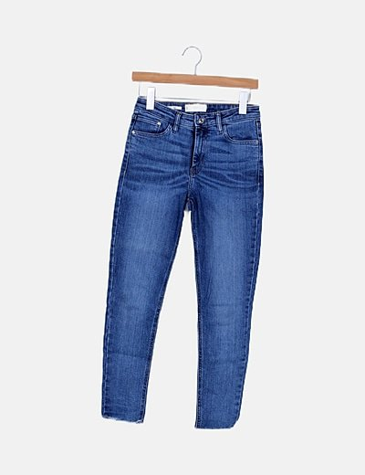 Jeans denim pitillo
