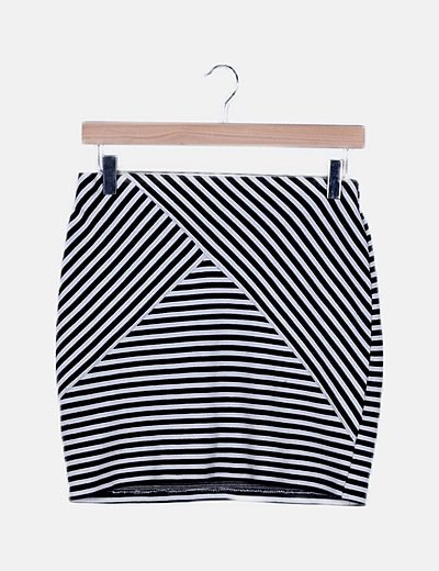 Falda mini rayas