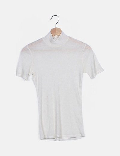 Jersey blanco manga corta