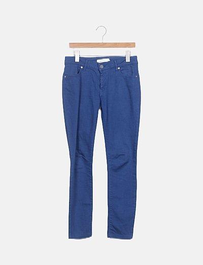 Pantalón azul skinny fit
