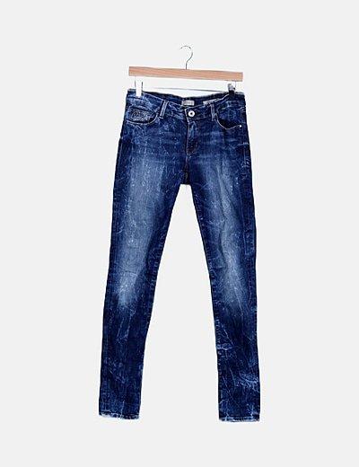 Jeans skinny detalle strass