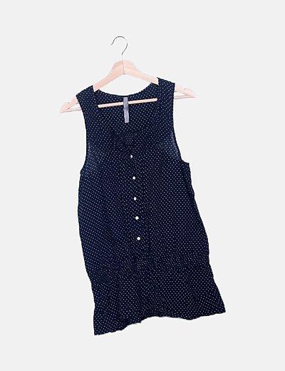 Camiseta negra polka dot