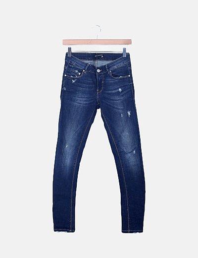 Jeans denim ripped efecto deslavado