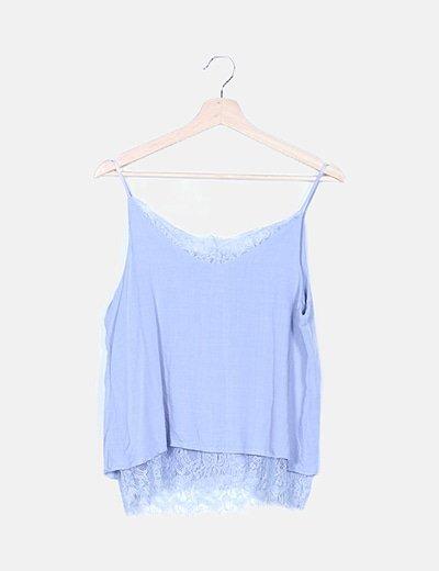 Blusa lencera azul