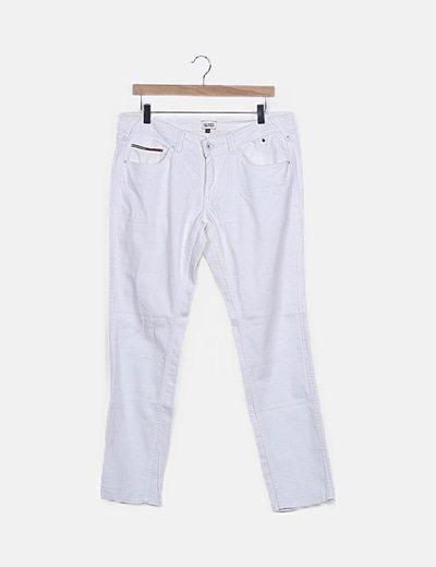 Jeans blancos pitillos