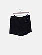 Faldapantalón negra texturizada Zara