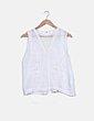 Blusa blanca combinada Sfera