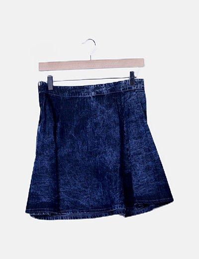Falda denim mini