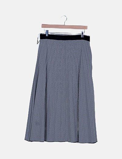 Falda cuadros bicolor