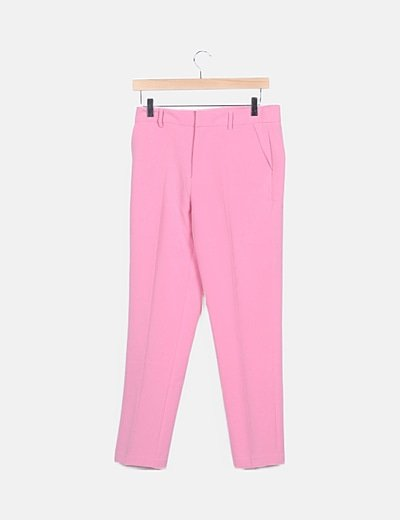 Pantalón traje rosa