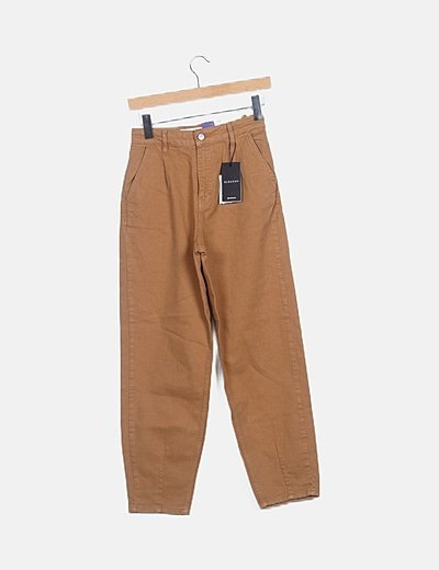 Pantalón slouchy camel
