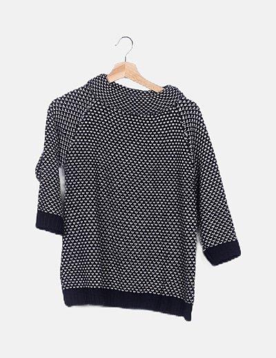 Jersey tricot bicolor estampado