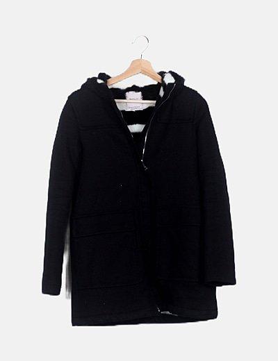 Abrigo negro pelo interno