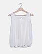 Blusa blanca de gasa detalle lazo NoName