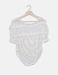 Jersey blanco crochet Stradivarius