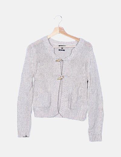 Chaqueta beige lana