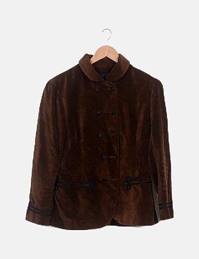 Blazer velvet marrón combinada