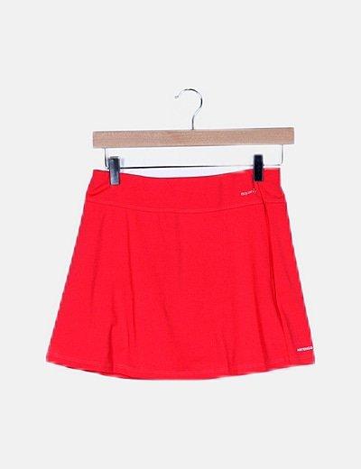 Falda deportiva roja